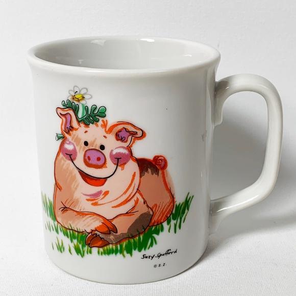 Enesco Kitchen Suzys Zoo Coffee Tea Cocoa Mug Happy Pig Poshmark